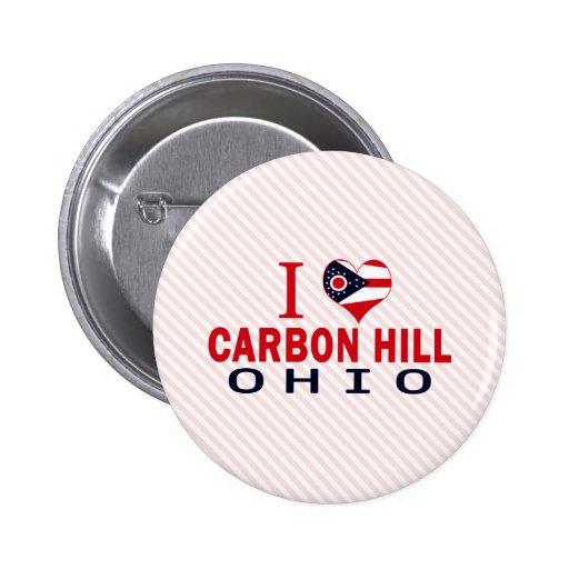 Amo la colina del carbono, Ohio Pin Redondo 5 Cm