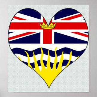 Amo la Columbia Británica de Canadá Impresiones