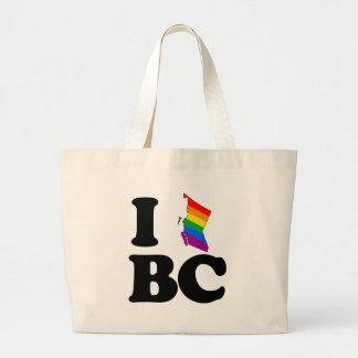 AMO LA COLUMBIA BRITÁNICA GAY - .PNG BOLSA TELA GRANDE