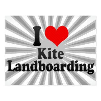 Amo la cometa Landboarding Postal
