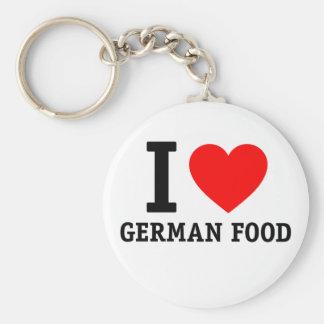 Amo la comida alemana llaveros personalizados