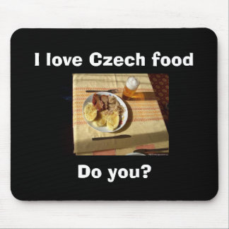 Amo la comida checa tapetes de ratón