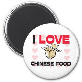 Amo la comida china imán redondo 5 cm