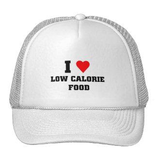 Amo la comida con pocas calorías gorras de camionero