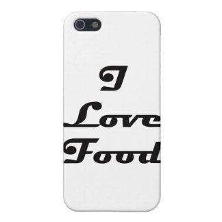 Amo la comida iPhone 5 cárcasa