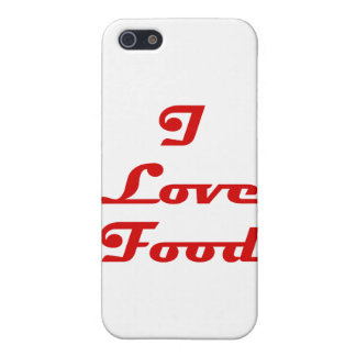 Amo la comida iPhone 5 protectores