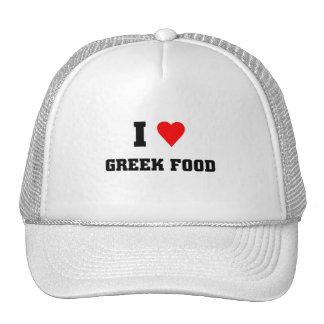 Amo la comida griega gorros