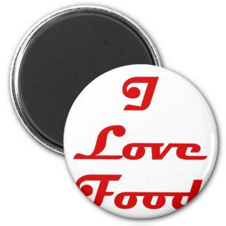 Amo la comida imán redondo 5 cm