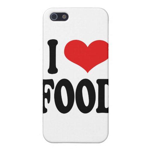 Amo la comida iPhone 5 fundas