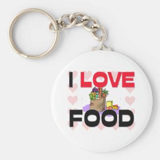 Amo la comida llaveros