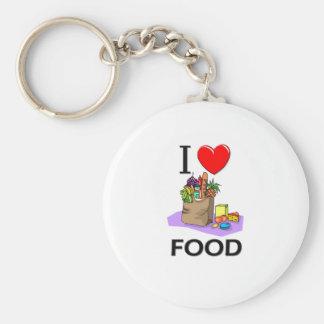 Amo la comida llavero personalizado