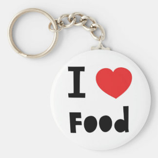 Amo la comida llavero redondo tipo pin