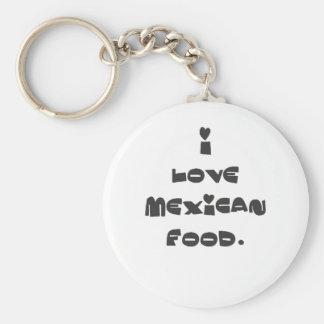 Amo la comida mexicana llavero redondo tipo pin
