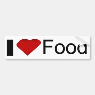 Amo la comida pegatina para auto