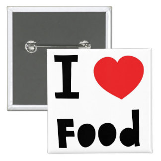 Amo la comida pin cuadrada 5 cm