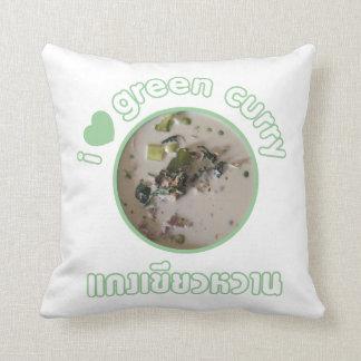 Amo la comida verde tailandesa de la calle de Tail Cojin