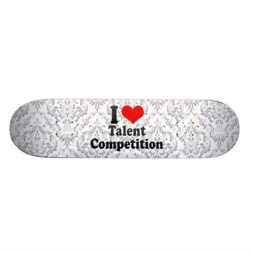 Amo la competencia del talento monopatin