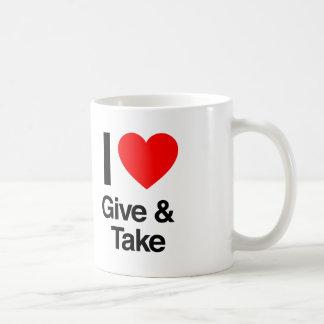 amo la concesión mútua taza de café