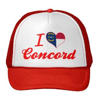Amo la concordia, Carolina del Norte Gorros