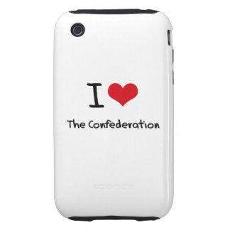 Amo la confederación iPhone 3 tough cárcasa