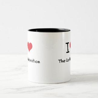 Amo la confederación taza