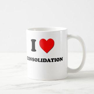 Amo la consolidación taza de café