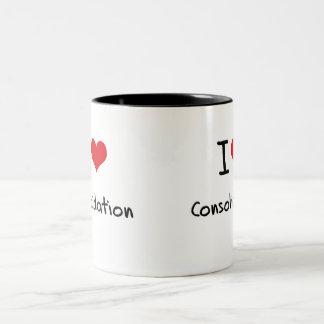 Amo la consolidación tazas de café