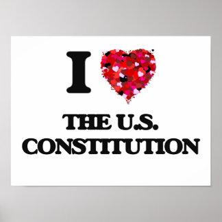 Amo la constitución de los E.E.U.U. Póster