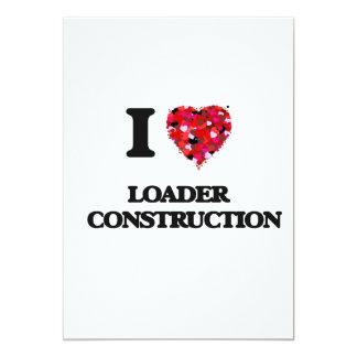 """Amo la construcción   del cargador invitación 5"""" x 7"""""""