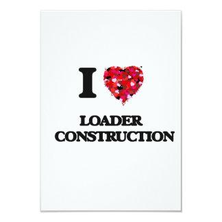 """Amo la construcción   del cargador invitación 3.5"""" x 5"""""""