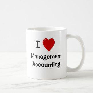 Amo la contabilidad de gestión - el doble echó a taza básica blanca