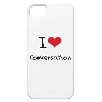 Amo la conversación iPhone 5 carcasas