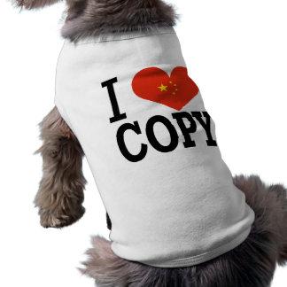 Amo la copia playera sin mangas para perro