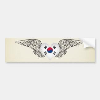 Amo la Corea del Sur - alas Pegatina Para Auto