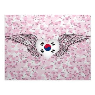 Amo la Corea del Sur - alas Tarjetas Postales