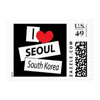 Amo la Corea del Sur de Seul Timbres Postales
