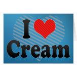 Amo la crema felicitacion
