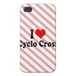 Amo la cruz cicla iPhone 4/4S carcasas