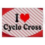 Amo la cruz cicla tarjetón
