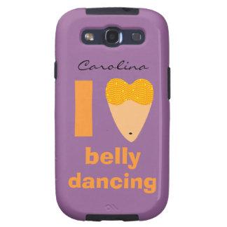 Amo la cubierta caprichosa de Samsung del bailarín Samsung Galaxy S3 Cárcasas