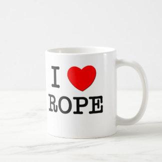 Amo la cuerda tazas de café