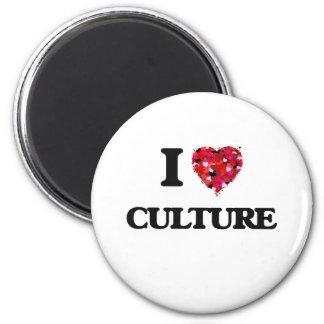 Amo la cultura imán redondo 5 cm