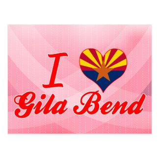 Amo la curva del Gila, Arizona Tarjetas Postales