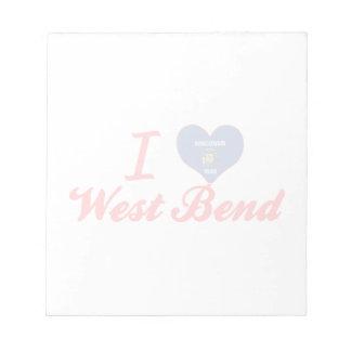 Amo la curva del oeste Wisconsin Bloc