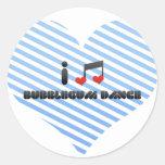 Amo la danza de Bubblegum Pegatinas Redondas