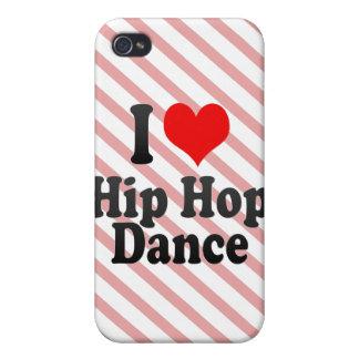 Amo la danza de Hip Hop iPhone 4 Carcasa