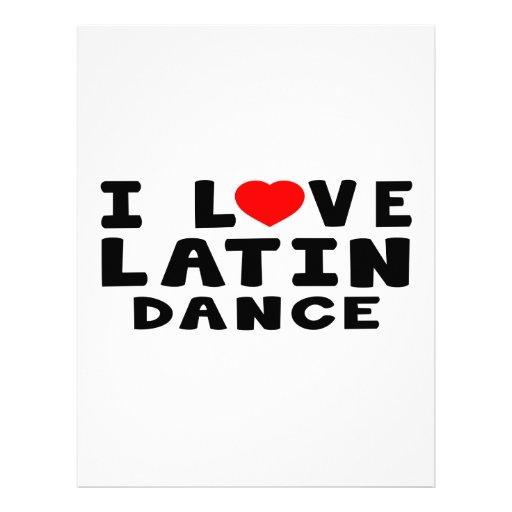 Amo la danza latina plantilla de membrete