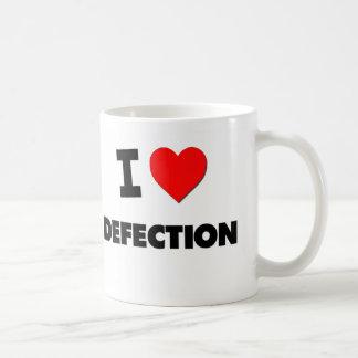 Amo la defección tazas