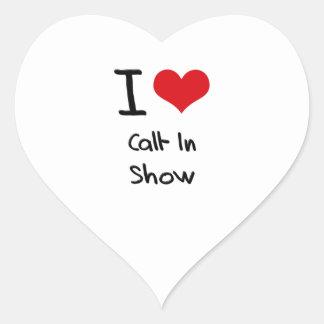 Amo la demostración del programa con llamadas en pegatina en forma de corazón