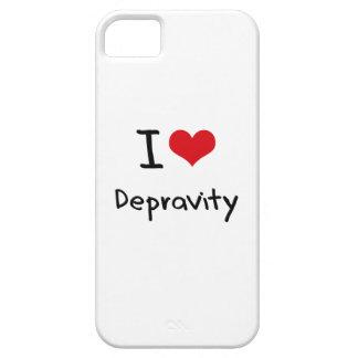 Amo la depravación iPhone 5 Case-Mate protectores